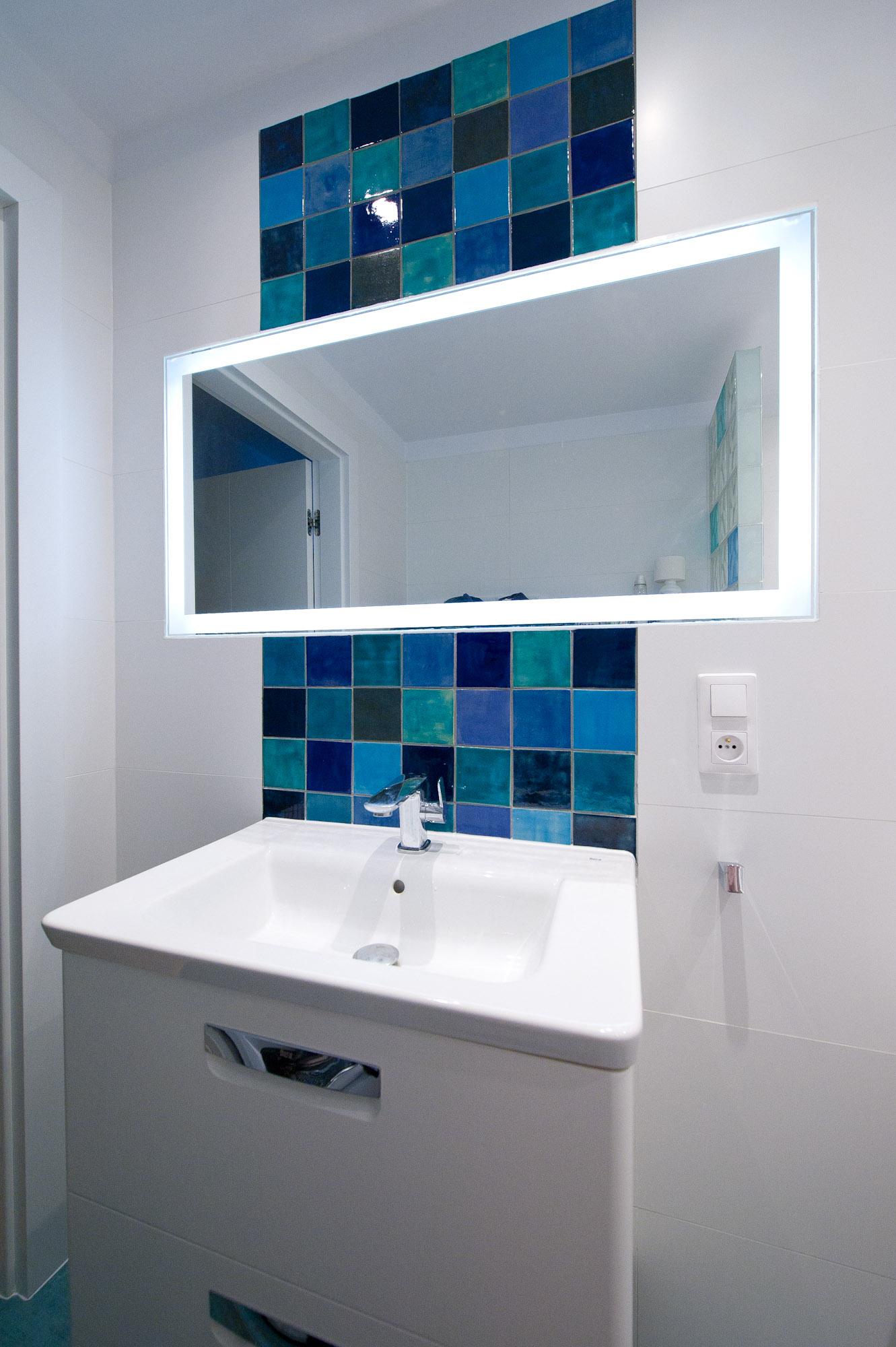 Kafelki Do łazienki Niebieskie Odcienie
